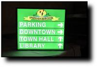 Illuminated Back Lit Wayfinding Sign