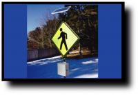 pedestrian flashing solar signs